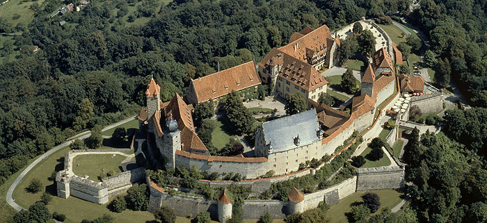 Picture: Aerial view of the Veste Coburg